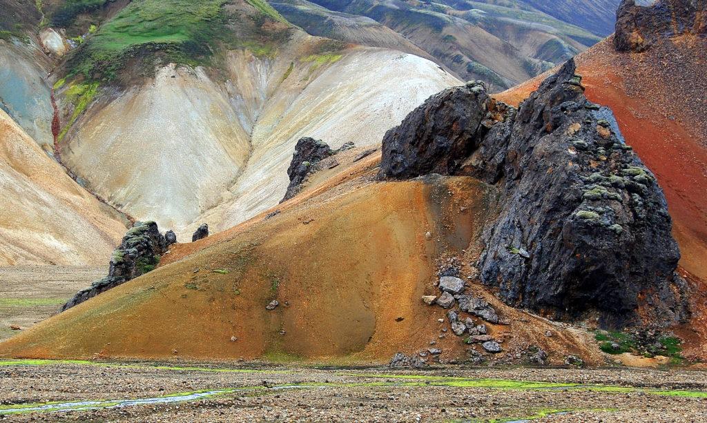 Bunte Felsen bei Landmannalaugar
