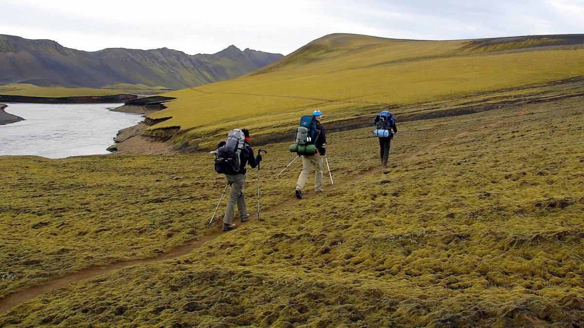Wandern im Hochland von Island