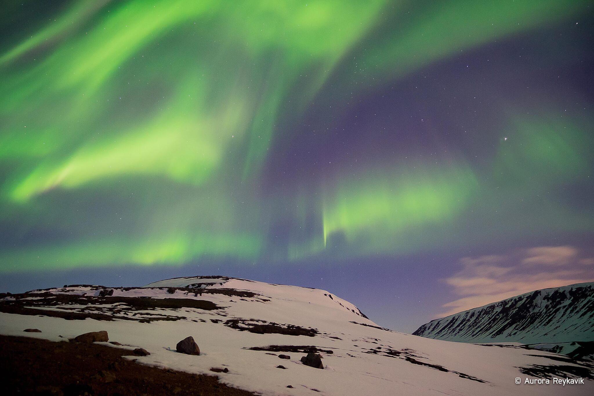 Nordlicht Island Grétar