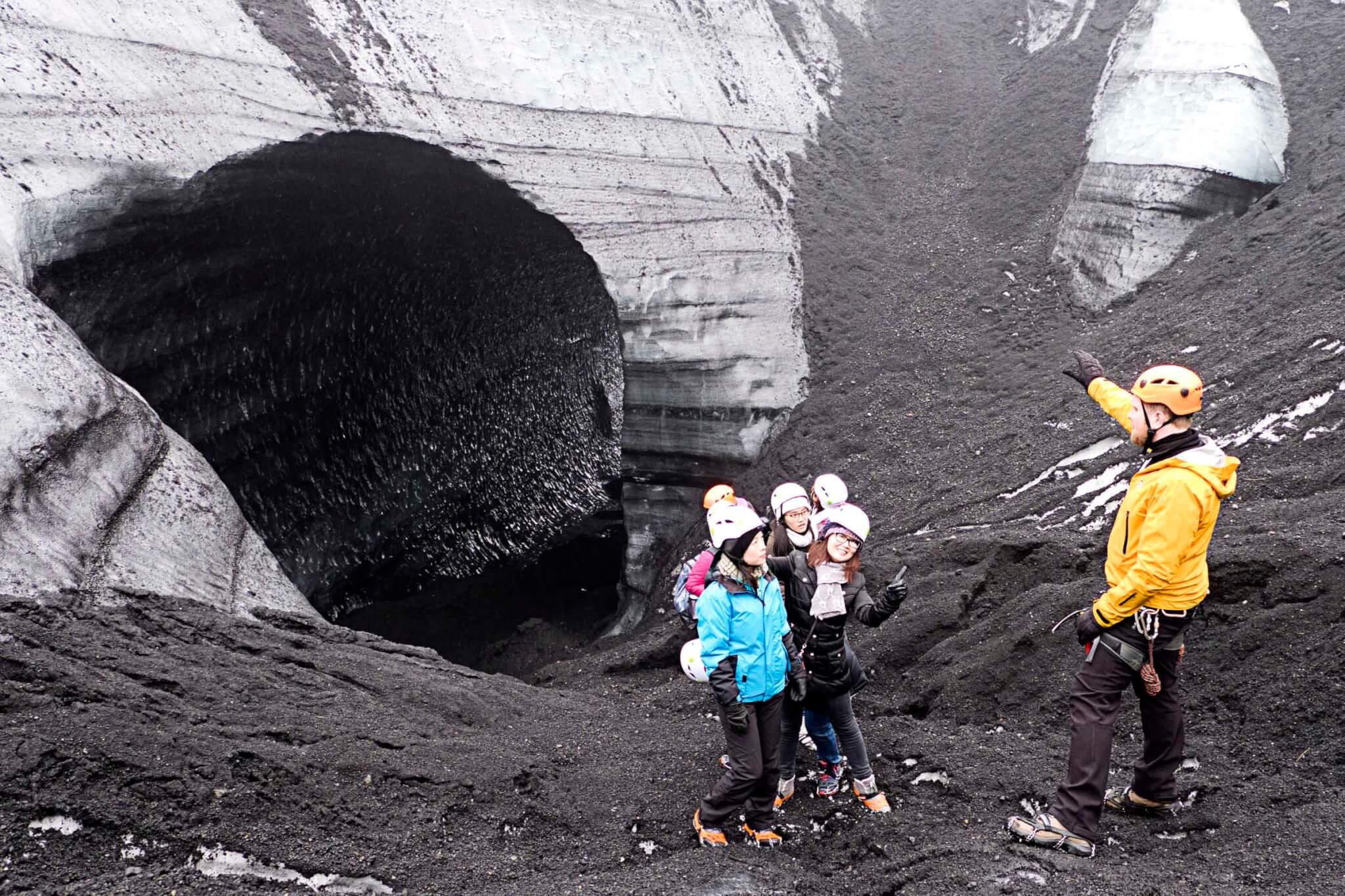 Island Gletscherhöhle Ausgang