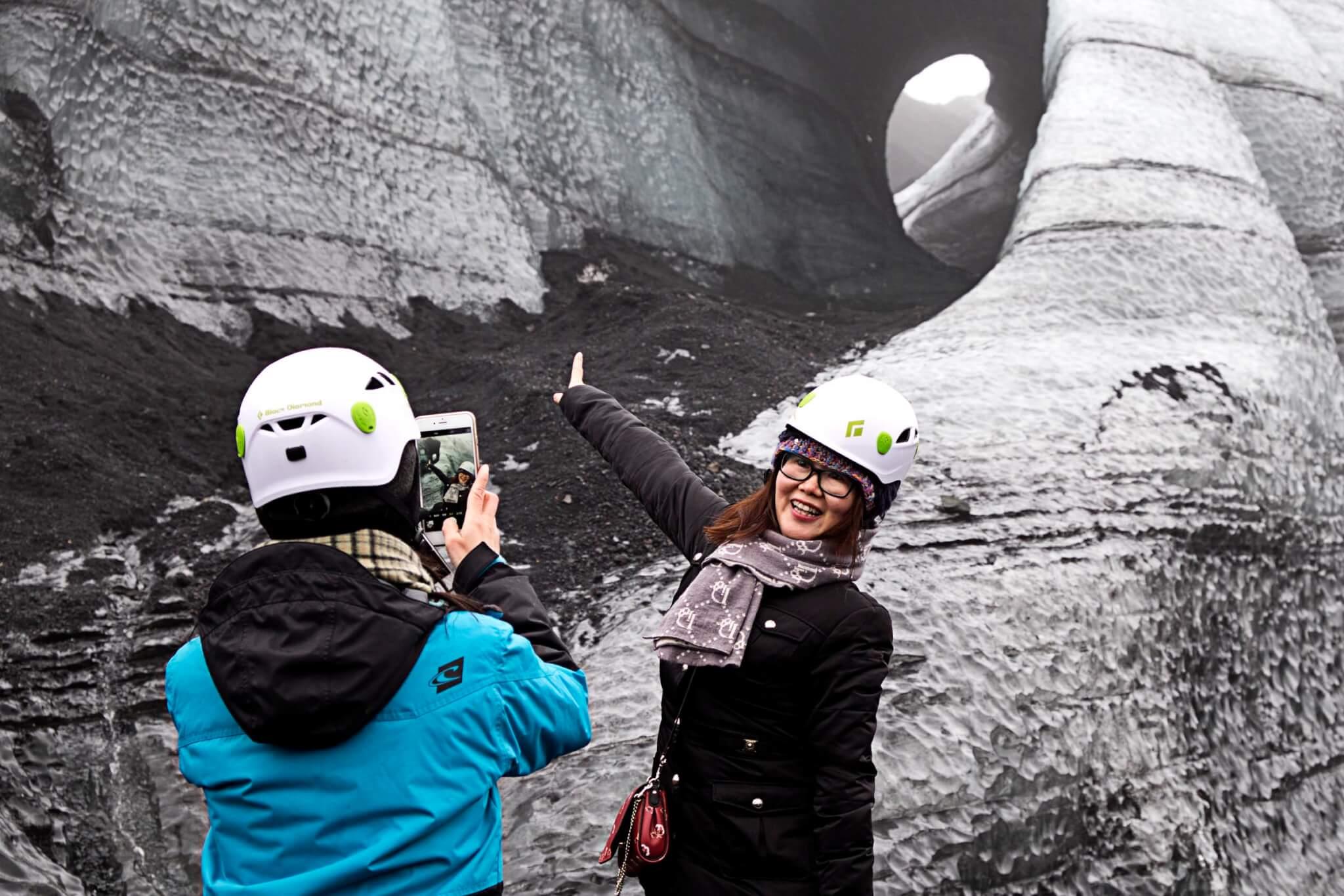 Island Gletscherhöhle Eingang