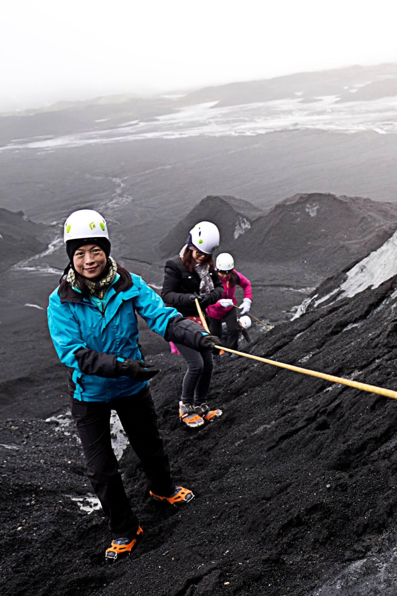 Island Gletscherhöhle Zustieg