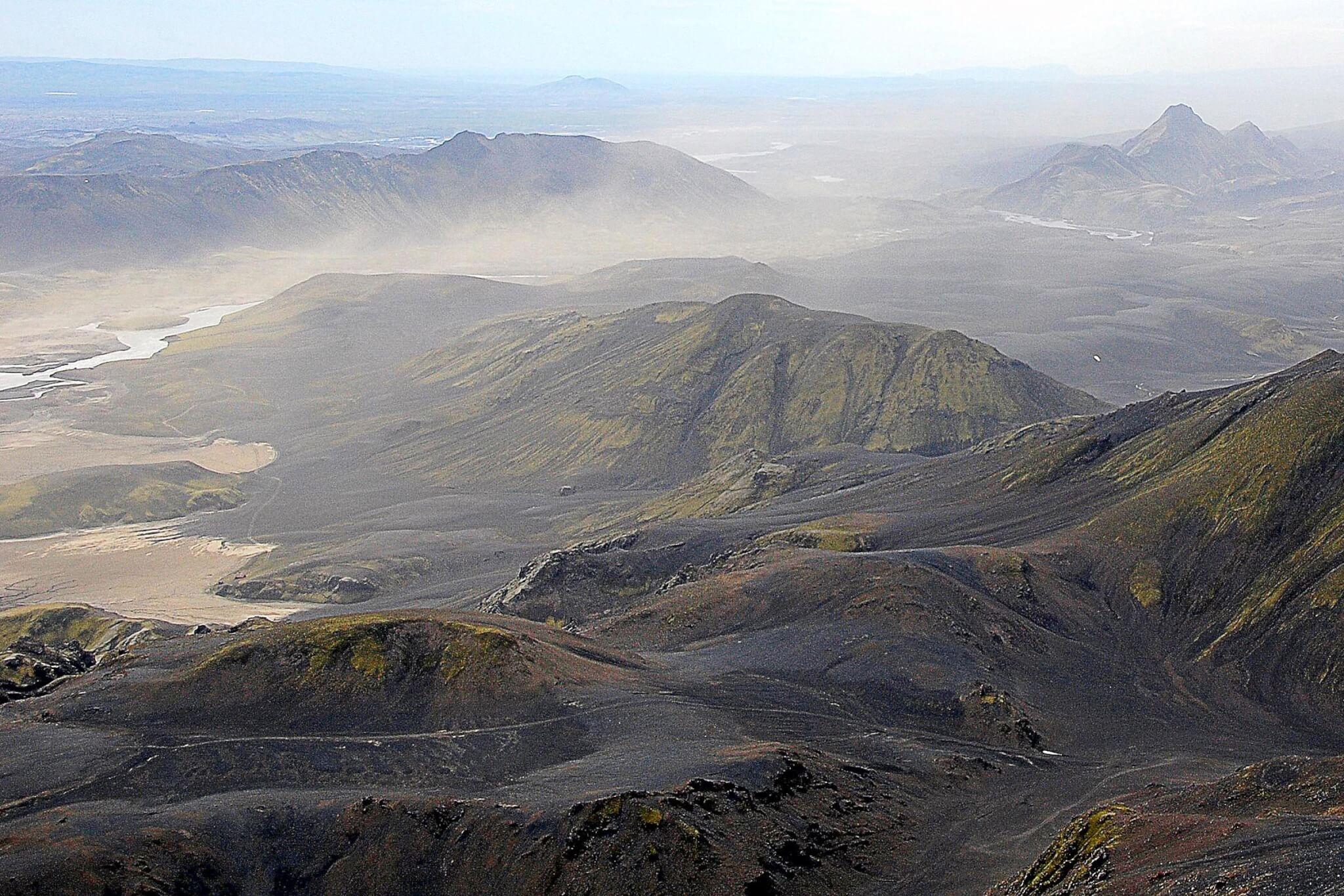 Wetter Sandsturm in Island