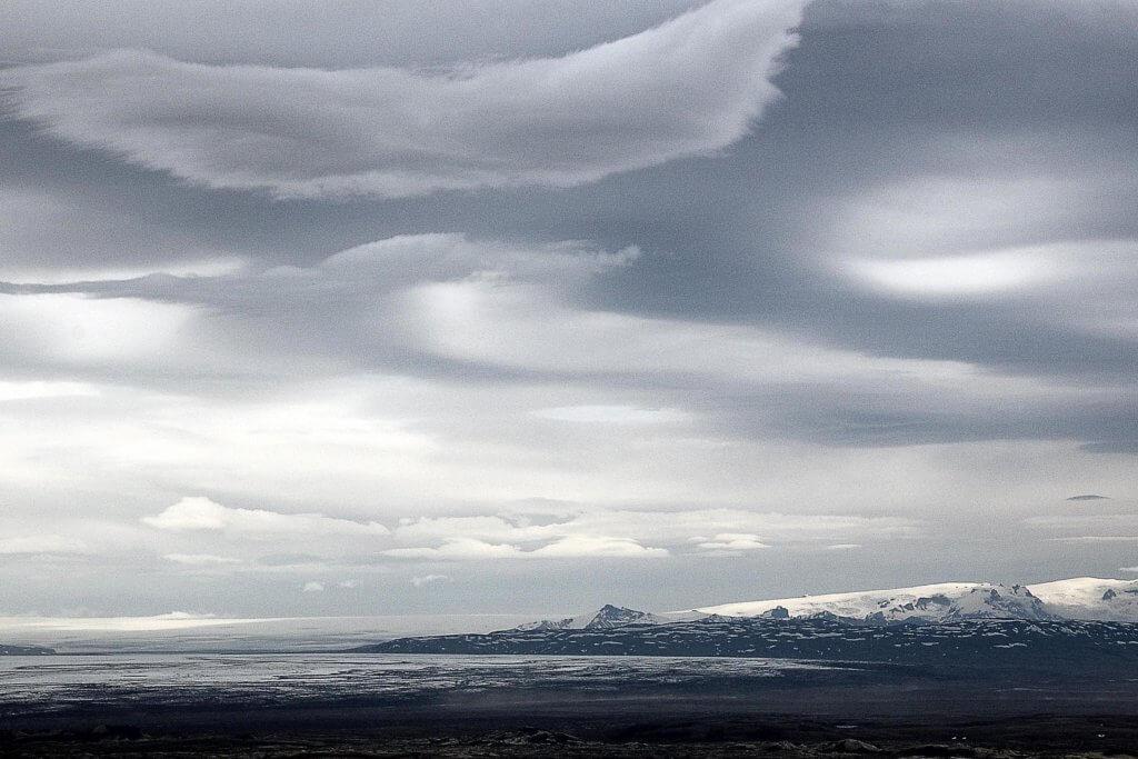 Wolken Hochland Island
