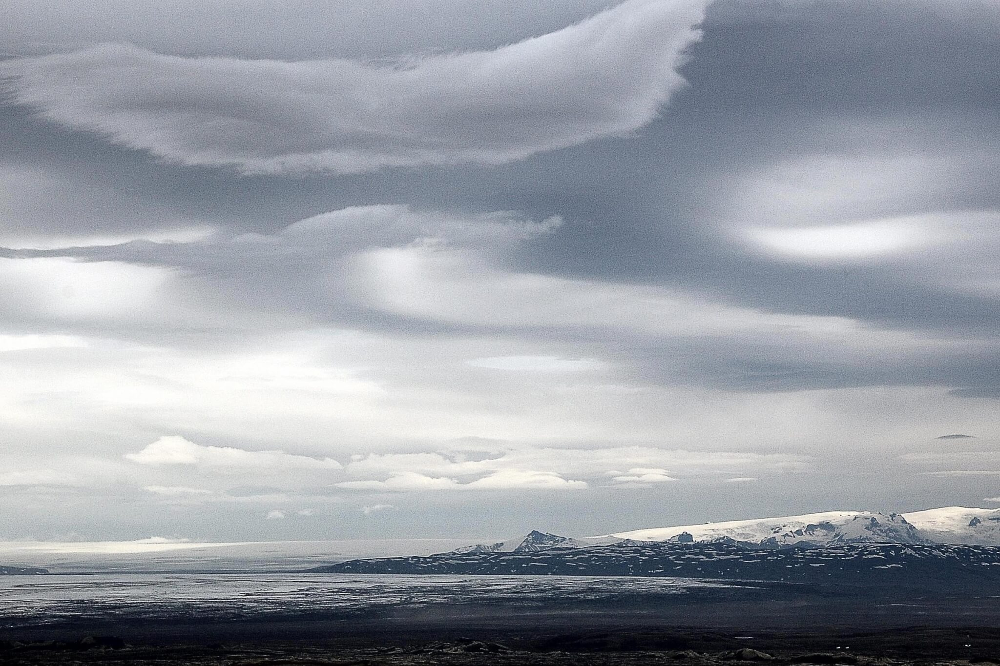 Wetter Wolken Hochland Island