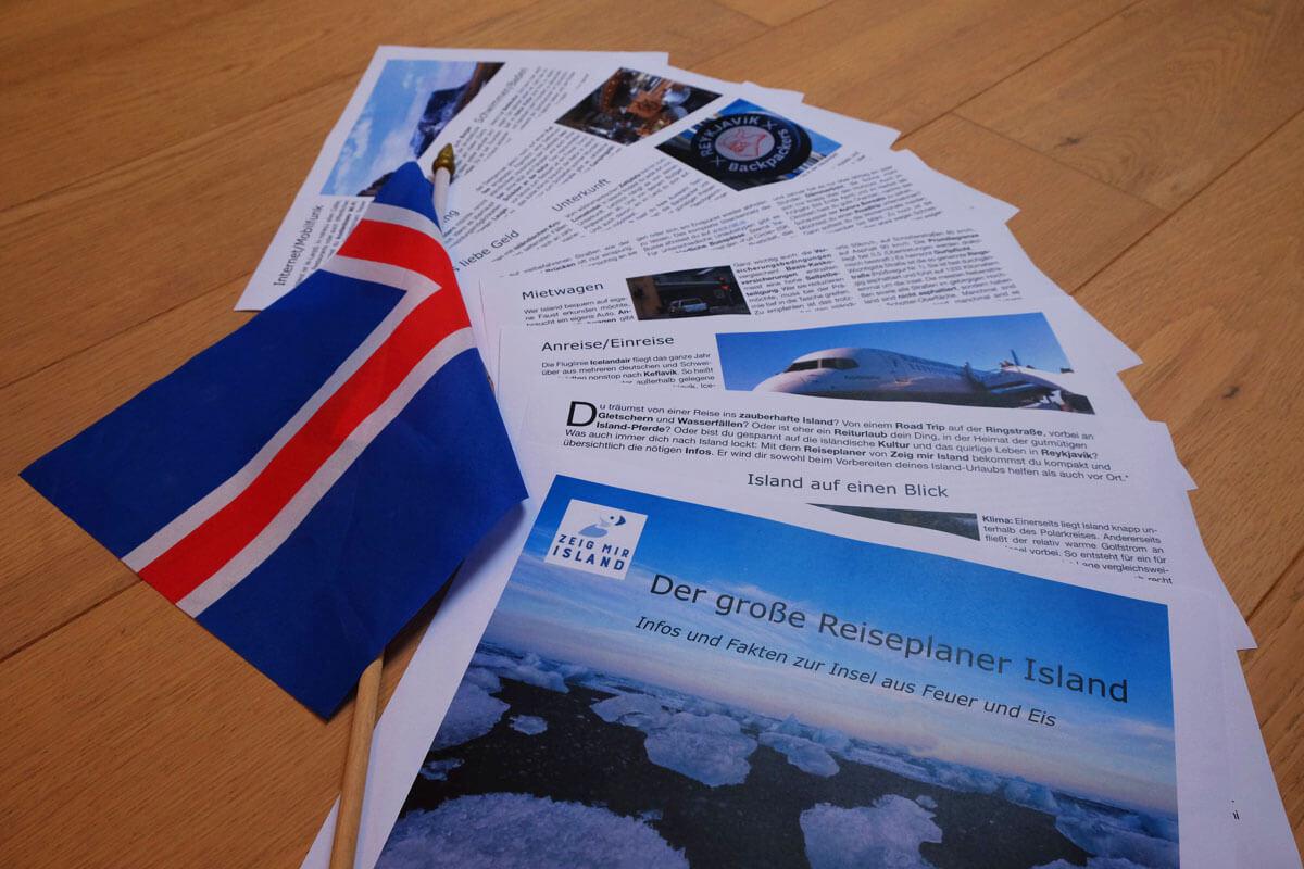kostenloser Reiseplaner Island