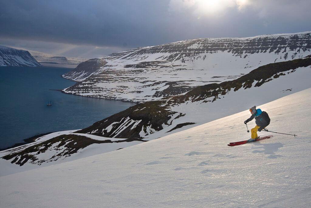 Sail Ski Abfahrt