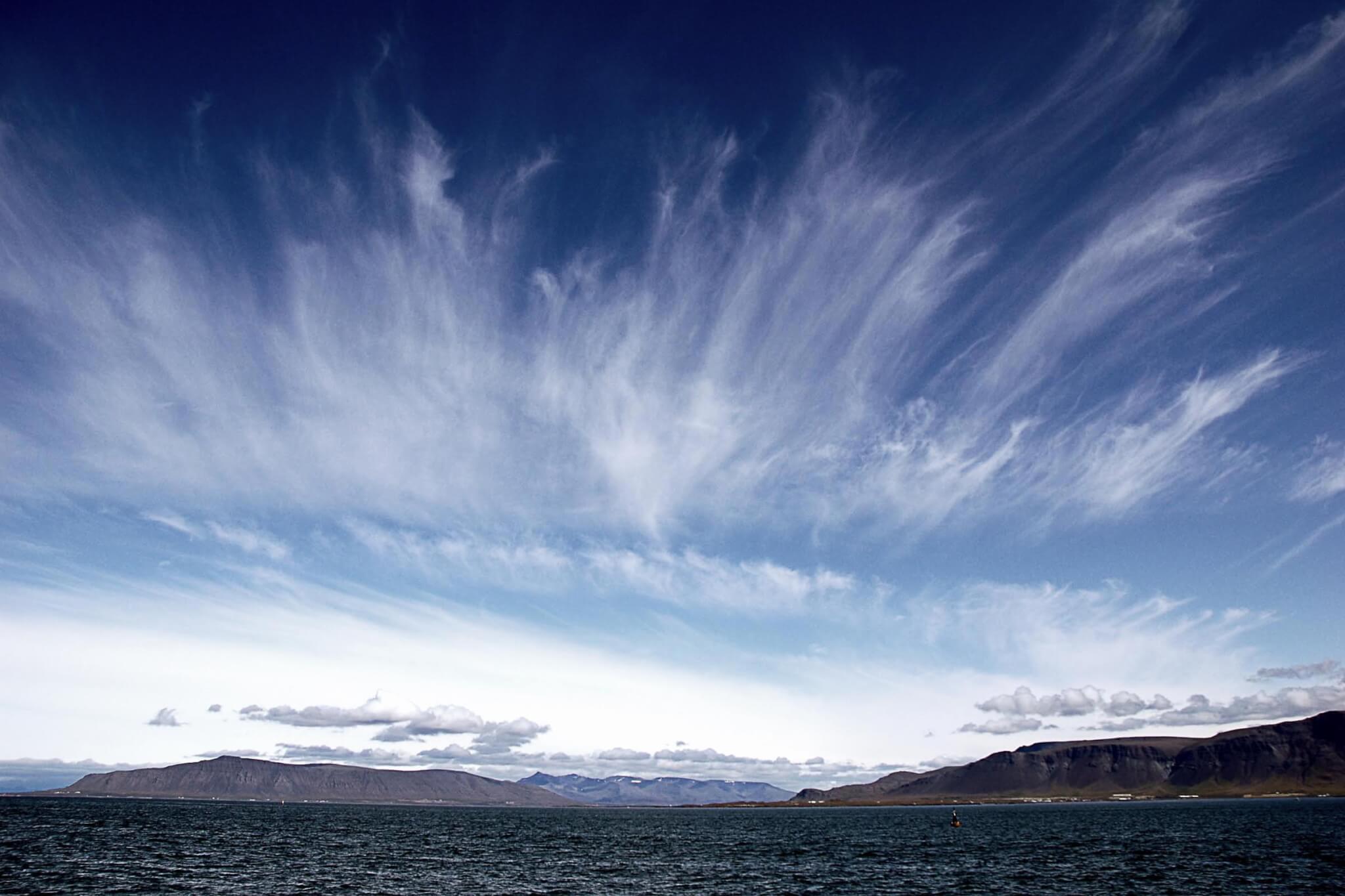 Wetter Wolken Island Reykjavík