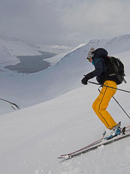 Skitour Abfahrt Westfjorde